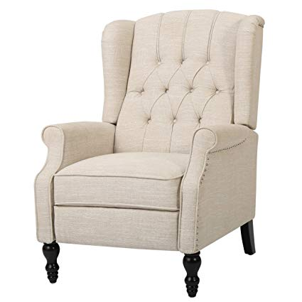 Amazon.com: GDF Studio Elizabeth Tufted Fabric Recliner, Vintage