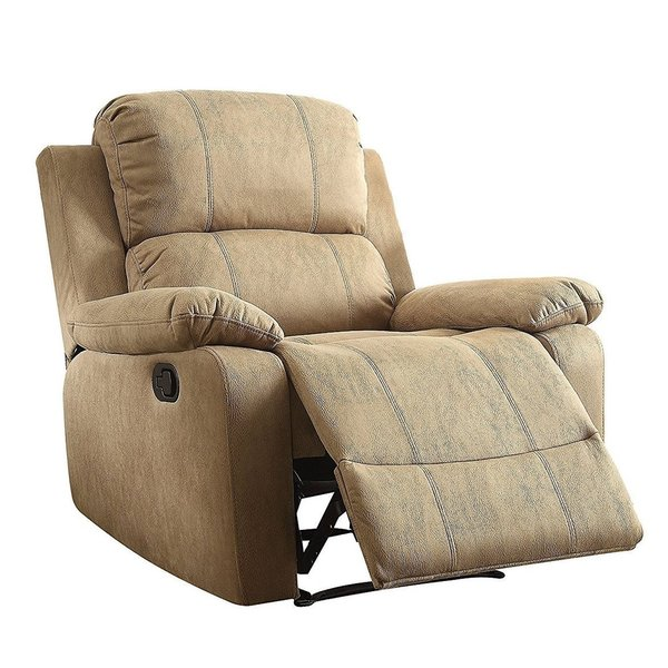 Shop Q-Max Bina Brown Memory Foam Pillow Top Reclining Arm Chair