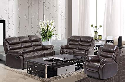 Amazon.com: BestMassage Living Room Sofa Set Recliner Sofa Reclining