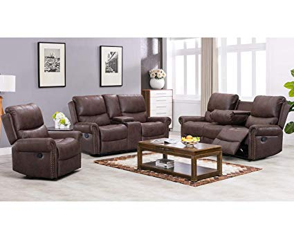 Amazon.com: BestMassage Recliner Sofa Living Room Set Reclining
