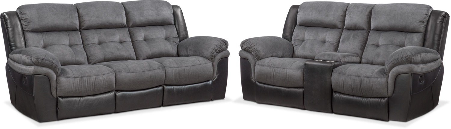Tacoma Manual Reclining Sofa and Loveseat Set | Value City Furniture