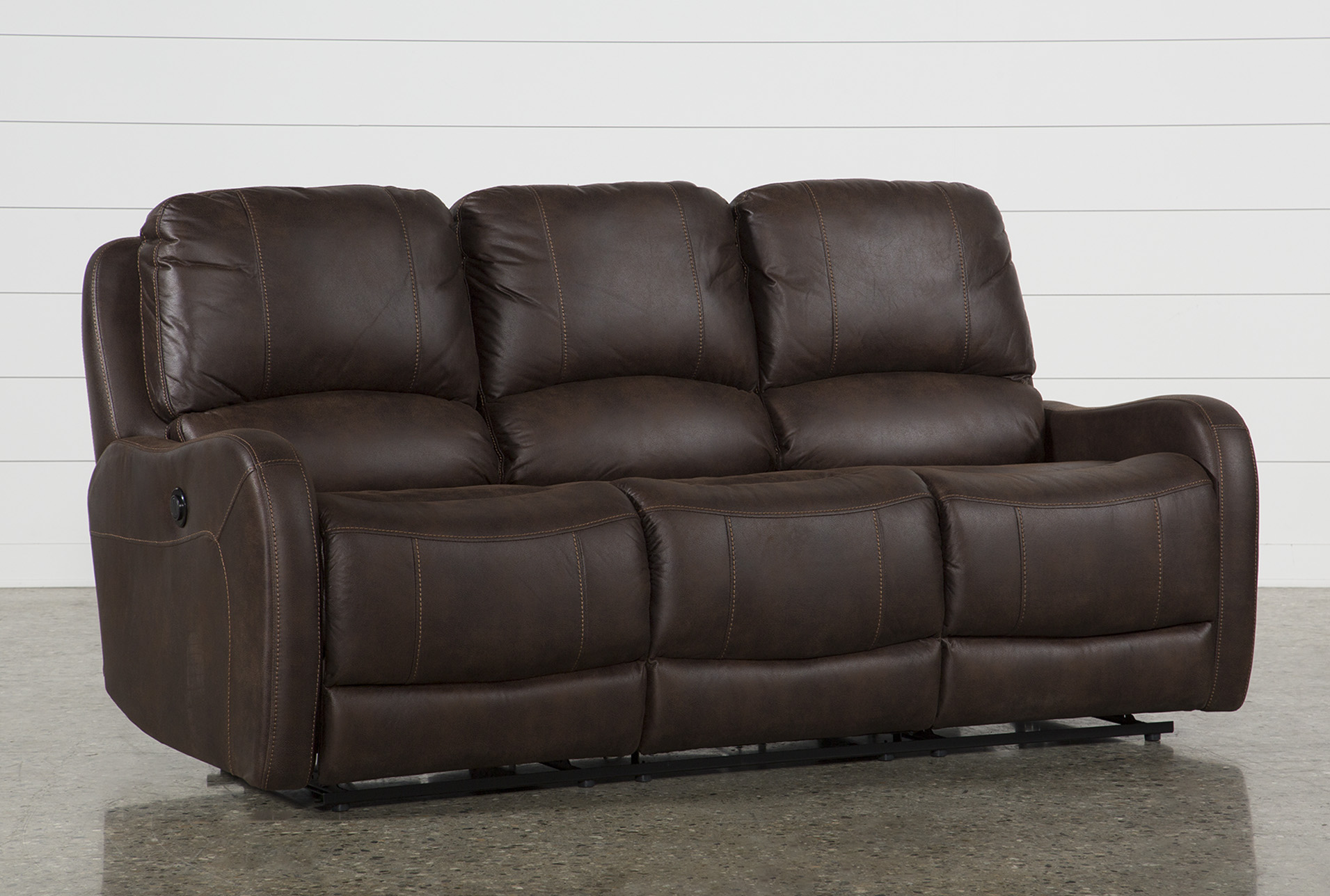 Davor Brown Power Reclining Sofa (Qty: 1) has been successfully added to  your Cart.