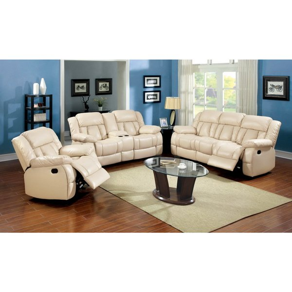 Shop Barbz Traditional 2-Piece Ivory Recliner Sofa Set by FOA - Free