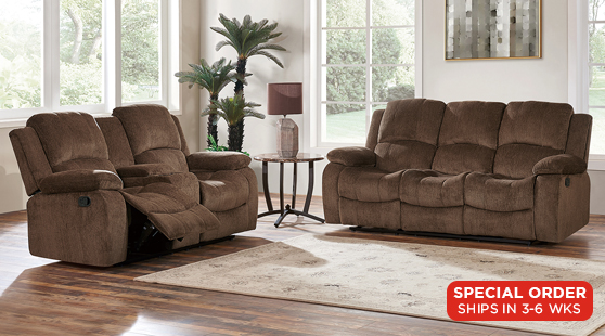 Living Rooms : Java Reclining Sofa & Loveseat Set