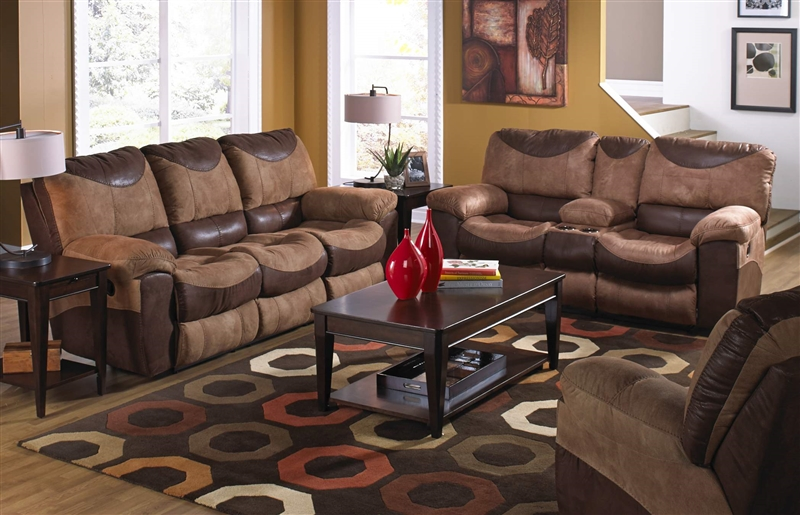 Reclining sofa and loveseat   sets for living room