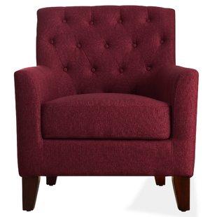 Red Print Armchair   Wayfair