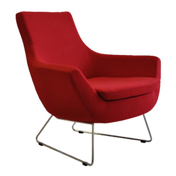 Rebecca Armchair in Red Wool   Buy Seating   Online Living Room Store