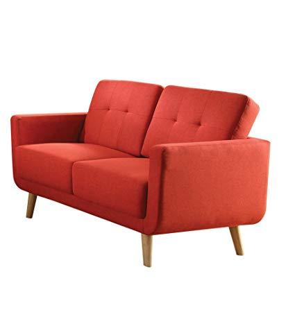 Amazon.com: Acme Furniture 52661 Sisilla Loveseat, Red Linen