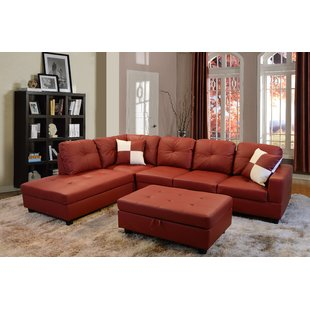 Red Couch Sectional   Wayfair