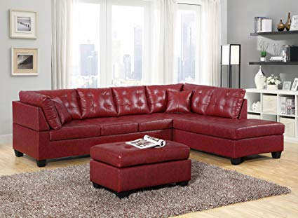 Amazon.com: GTU Furniture Pu Leather Living Room Furniture Sectional
