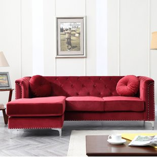 Seating furniture – red   sectional sofa