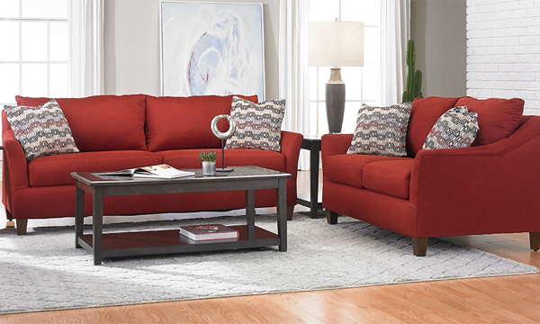 Jericho Cardinal Red 2-piece Sofa and Loveseat Set|The Dump Luxe