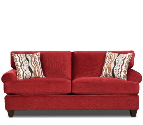 Jackpot Red Sofa by Corinthian at Furniture Warehouse | The $399