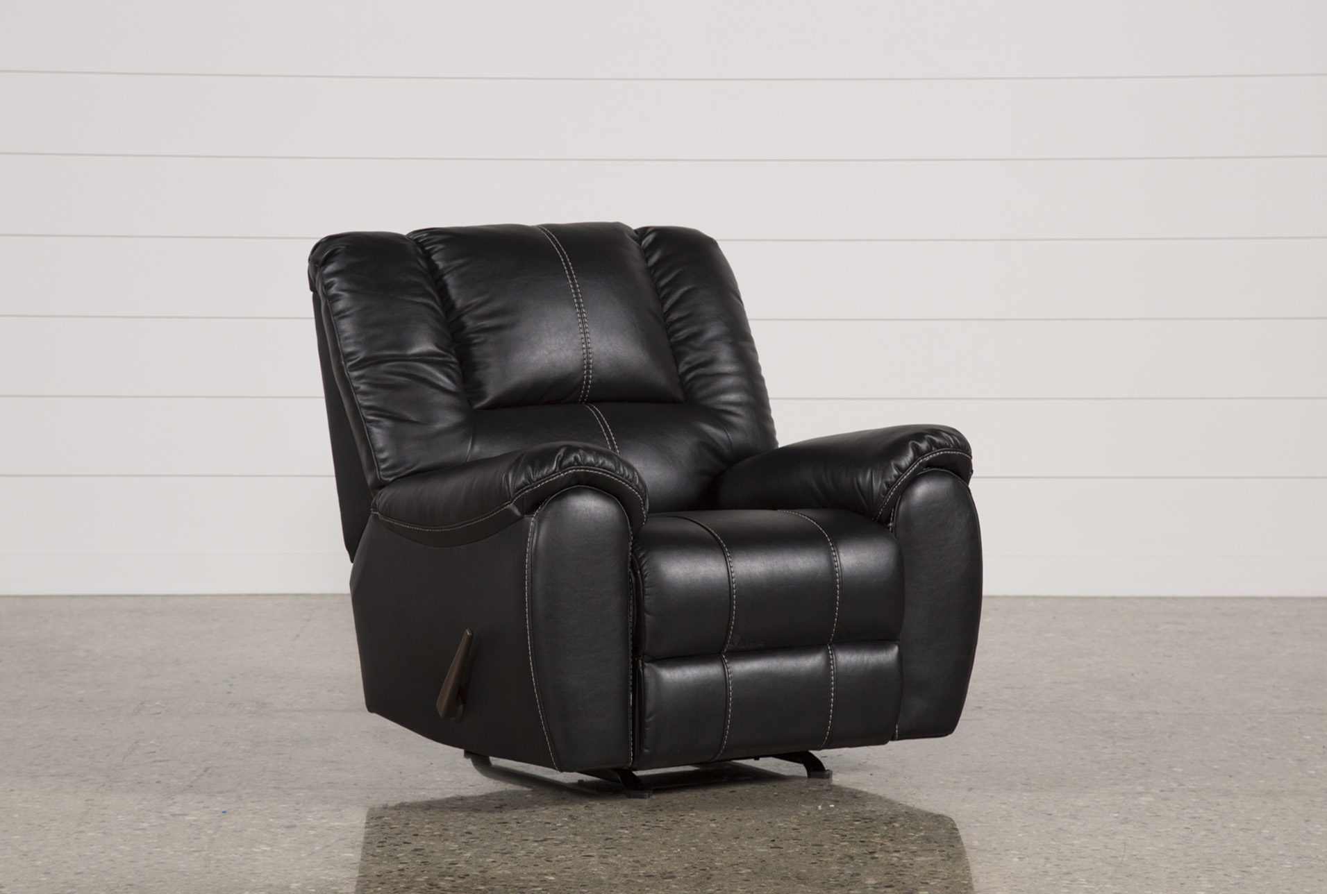 Spiro Black Rocker Recliner | Living Spaces