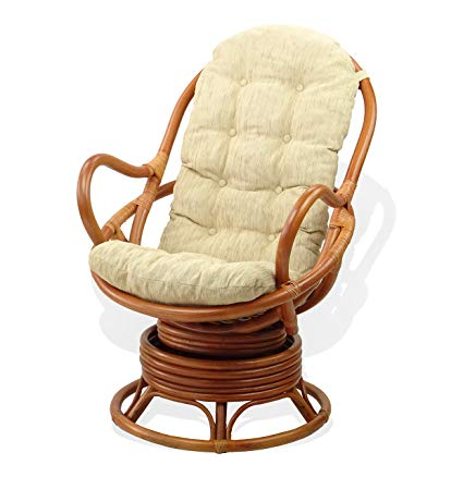 Amazon.com: Lounge Swivel Rocking Chair ECO Natural Handmade Rattan