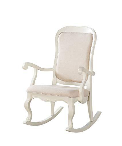 Amazon.com: Acme Furniture 59388 Sharan Rocking Chair, Antique White