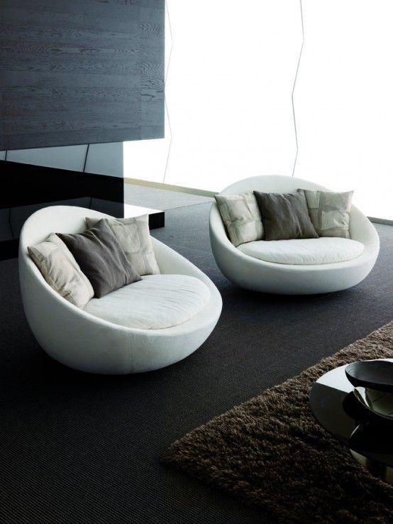 Modern Living Room Sofa u2013 Lacon by Desiree Divano | Round Chair