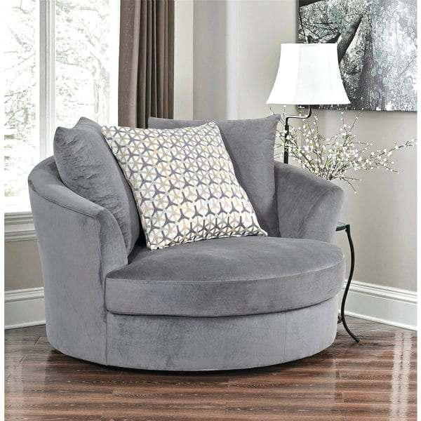 Fabric Swivel Chair Grey Round Chairs For Living Room u2013 YourLegacy