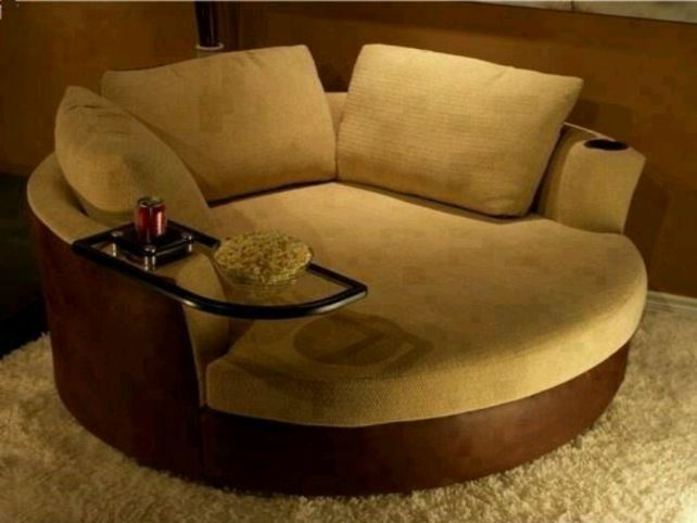 Get round chairs for living room and get it a look