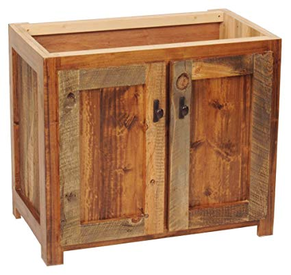 Rustic Wood Bathroom Vanity Base (36 in. W) - Rustic Bathroom Vanity