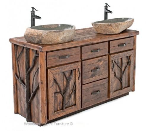 Rustic bathroom vanities perfectly suits master beds