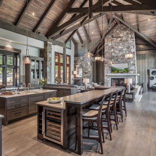 75 Most Popular Rustic Open Concept Kitchen Design Ideas for 2019