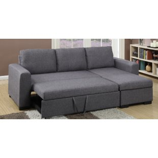 Contemporary sectional couch   bed