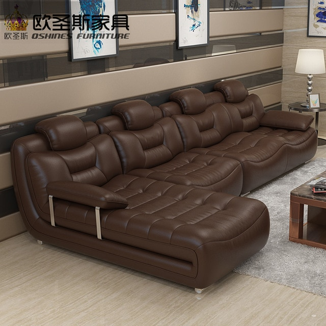 Happy brown cotemporary furniture living room imported italy faux