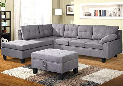 Amazon.com: Harper&Bright Designs Sectional Sofa Set with Chaise