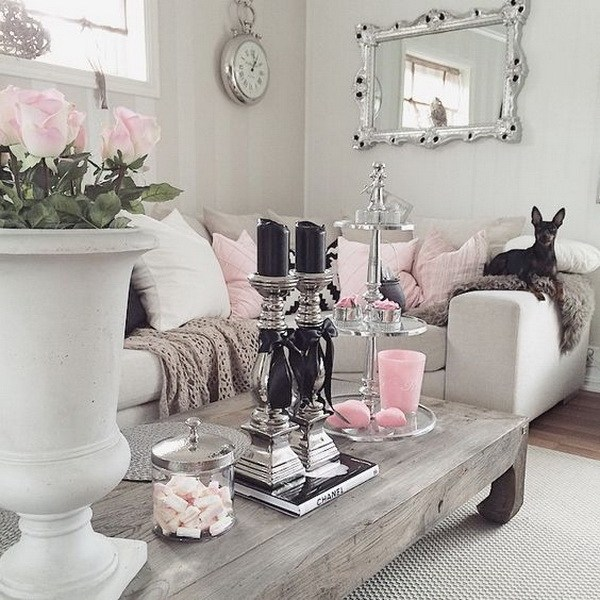 25+ Charming Shabby Chic Living Room Decoration Ideas - For Creative