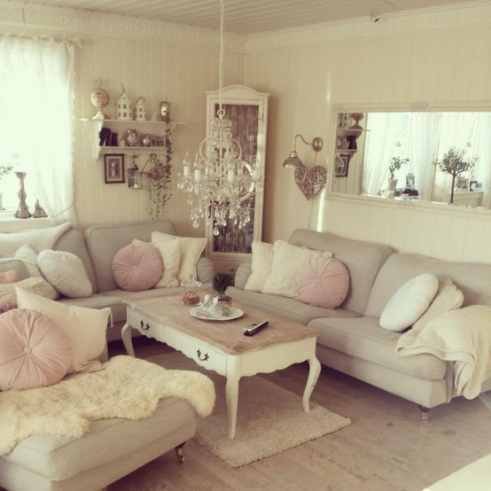 Top 18 Dreamy Shabby Chic Living Room Designs