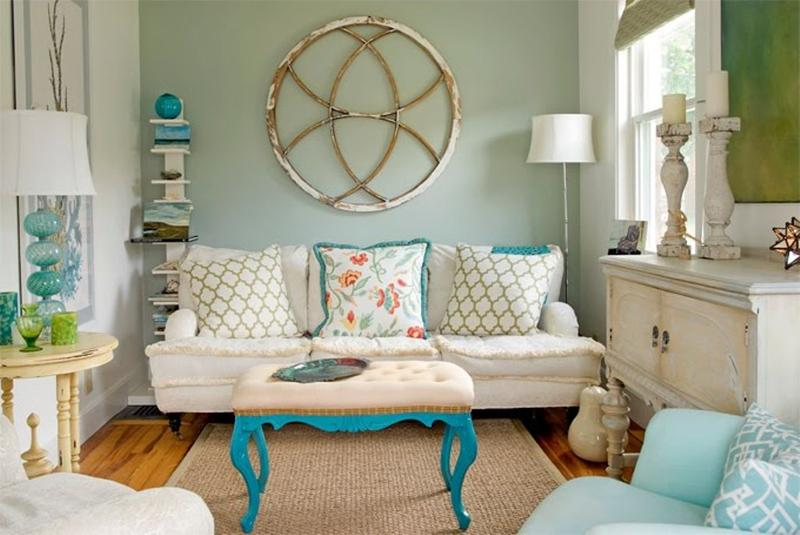 shabby chic living room with wooden flooring ideas - Shabby Chic