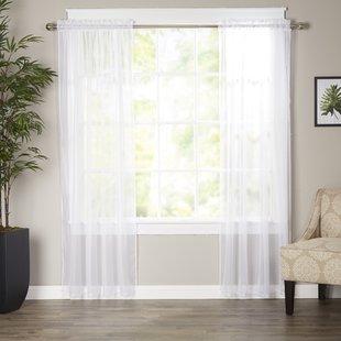 Pattern Sheer Curtains | Wayfair