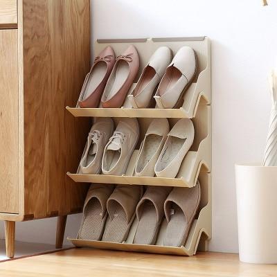 MoeTron Creative Shoe Rack Storage DIY Plastic Shoe Shelves Space