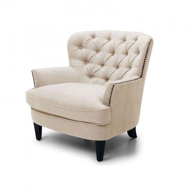Ferguson Beige Single Armchair | Armchairs | Chair, Armchair, Accent