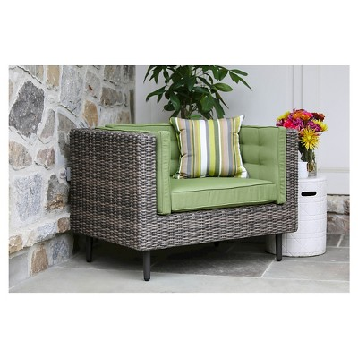 Aimee Single Arm Chair With Sunbrella Fabric Spectrum - Cilantro