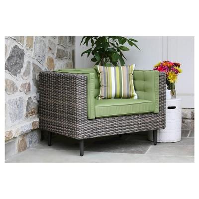 Aimee Single Arm Chair With Sunbrella Fabric Spectrum - Cilantro