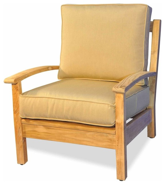 Teak Deep Seating Single Chair by Regal Teak - Transitional