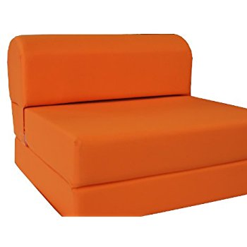 Amazon.com: D&D Futon Furniture Orange Sleeper Chair Folding Foam