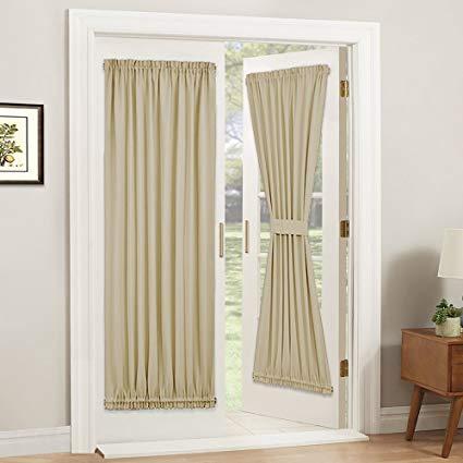 Amazon.com: PONY DANCE Door Curtain Panel - Room Darkening Rod
