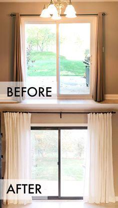 Kitchen Sliding Glass Door Curtains Ideas Amazing 24101 | Kitchen