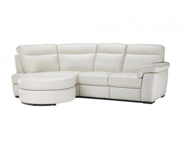 Interesting Natuzzi Daniele Leather Lhf Chaise Small Corner Sofa