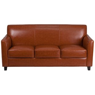 Small Curved Leather Sofa | Wayfair