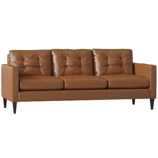 Get an aesthetic and trendy   look with small leather sofa