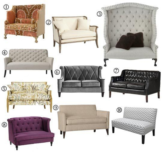 Small Space Sofa Alternatives: 10 Settees & Loveseats | Pam's Decor