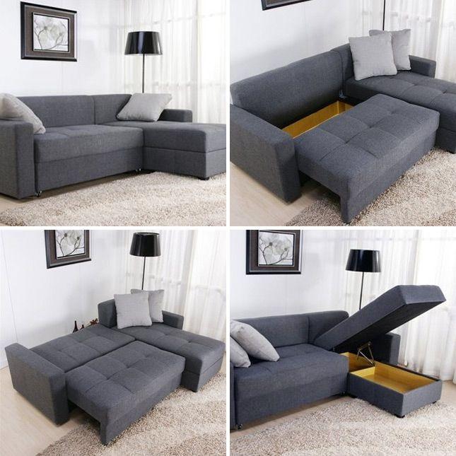 Tiny Sectional Sofa - Foter | Tiny house | Pinterest | Convertible