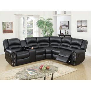 Decorative small sectional   sofa with recliner
