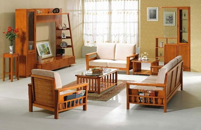 Sofa Set Designs For Small Living Room | Sofa | Wooden living room