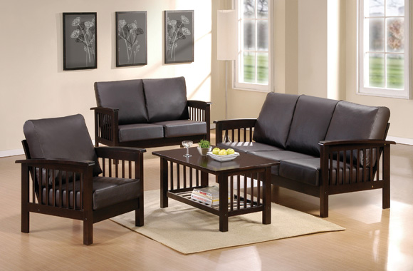 mapajunction.com | small living room with black wooden sofa sets
