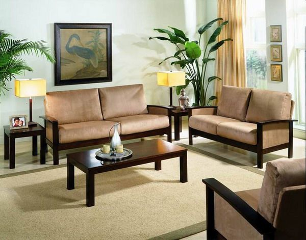 Small sofa sets are simple and   beautiful designs for any living room size